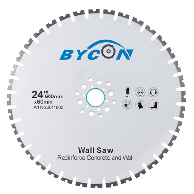 Laser Welded Premium 15mm Segment Height Diamond Wall Saw Blade For Concrete